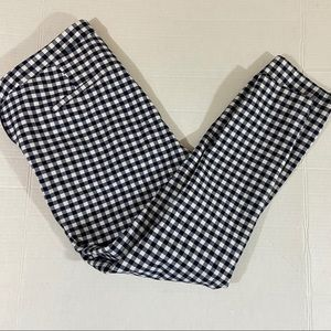 J. Crew Martie cropped gingham pants